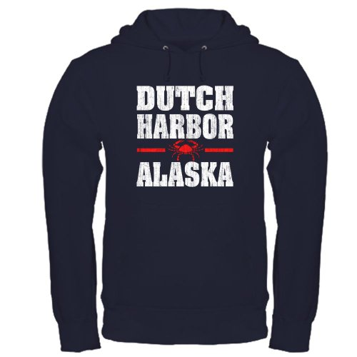 Dutch Harbor Alaska Crab Hoodie dark by CafePress - L Navy