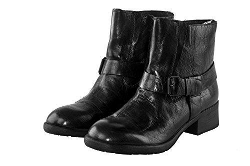 Scarpe donna LUCA STEFANI stivaletto nero in vera pelle N.41 X3474