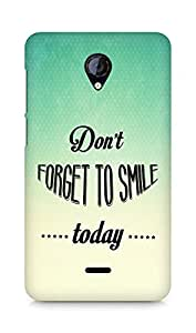 Amez Dont forget to Smile Today Back Cover For Micromax Unite 2 A106