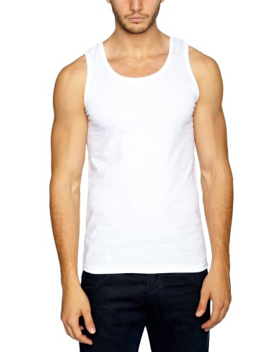 Fruit of the Loom 3 Pack Athletic Men's Vest White Medium
