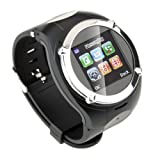 Watch Cell Phone Mobile Touch Screen Mp3 Mp4 Fm Radio (Black/Silver)