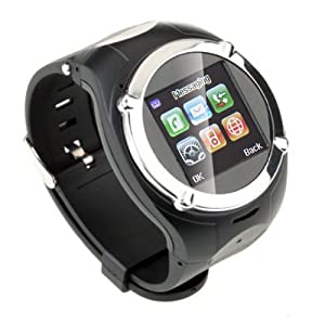CNPGD® Watch Cell Phone Mobile Touch Screen Mp3 Mp4 Fm Radio (Black/Silver)