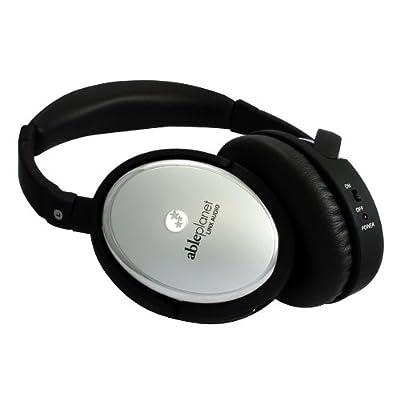 Able Planet True Fidelity Active Noise Canceling Headphones (Silver Chrome)