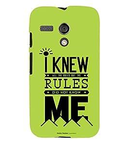printtech Rules Quote Back Case Cover for Motorola Moto G X1032::Motorola Moto G (1st Gen)