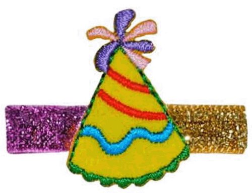 "Bow Allure ""Belle Glade"" Party Hat Hair Clip for Babies, Toddlers and Girls  (Right Side)"