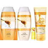 Avon Naturals Milk & Honey Nourishing Set Of 4 (Shower Gel + Hand & Body Lotion + Lip Balm + Hand Cream)