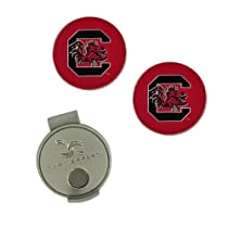 NCAA South Carolina Hat Clip and 2 Golf Ball Markers