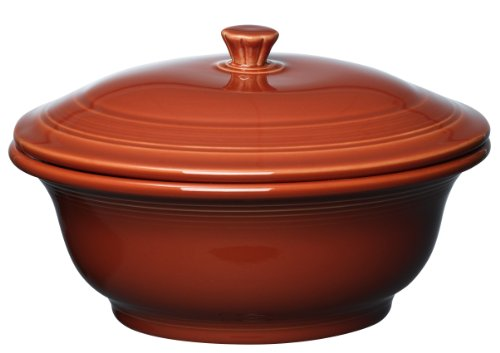 Fiesta 495-334 Covered Casserole, 70-Ounce, Paprika