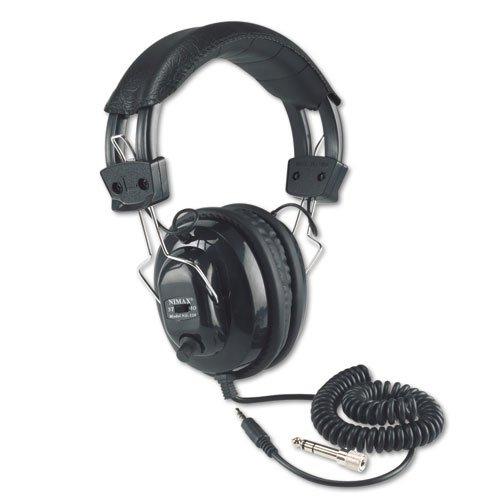 "Amplivox ""Deluxe Stereo Headphones W/Mono Volume Control, Black"" Unit Of Measure: Ea, Manufacturer Part Number: Sl1002"