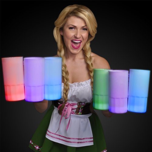 Light Up Tall Frosted Beer Stein With Color Change Leds