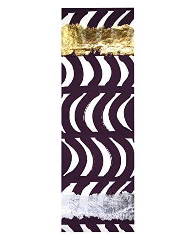 Aviva Stanoff Table Runner, Purple/White