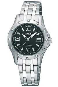 Lorus Black Dial Bracelet Strap Ladies Fashion Watch RRS25SX9