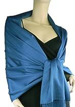 Pashmina/Silk Wrap Moroccan Blue