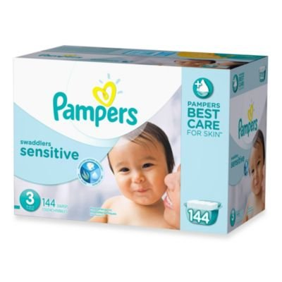 Pampers  Swaddlers Sensitive 144-count Size 3 Economy Pack Plus Diapers