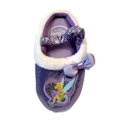 Disney Toddler Girls Purple Tinkerbell Slippers House Shoes