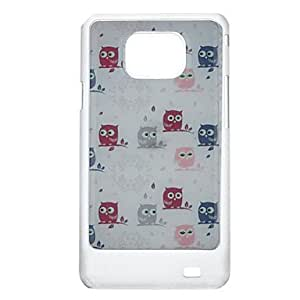 Little Owl Pattern Protective Hard Back Case Cover for Samsung Galaxy S2 I9100