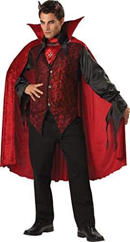 [InCharacter Costumes Men's Sinister Devil Adult Costume, Red/Black, X-Large] (Arabian Costumes For Men)