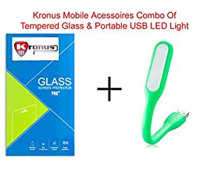 Kronus Portable USB LED Cable & 2.5D Curved Tempered Glass For Gionee Pioneer P2M