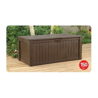 150 Gallon Deck Box For Storage And Sitting Carvalho