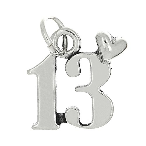 Sterling Silver 13 Years Old Heart