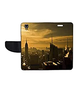 KolorEdge Printed Flip Cover For Micromax Yureka - Multicolor