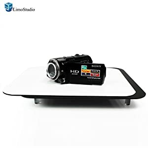 LimoStudio Acrylic Black & White Reflective Display Table Riser for Product Table Top Photography, AGG835