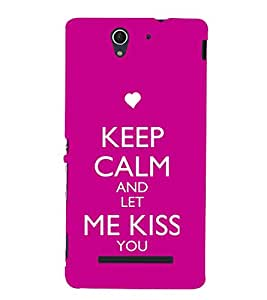 EPICCASE Let me kiss you Mobile Back Case Cover For Sony Xperia C3 (Designer Case)