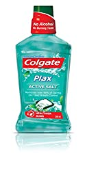 Colgate Plax Active Salt Alcohol free Mouthwash - 250 ml