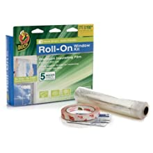 Duck Brand 281068 Roll-On Indoor 5-Window Premium Insulating Film Kit, 62-by-200-Inch