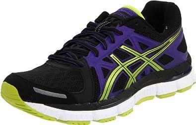 ASICS Women's Gel Neo33 Running Shoe,Black/Lime/Electric Purple,5 M US