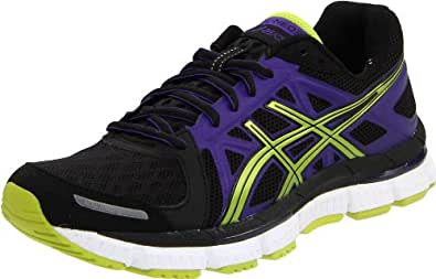 ASICS Women's Gel Neo33 Running Shoe,Black/Lime/Electric Purple,5 M US