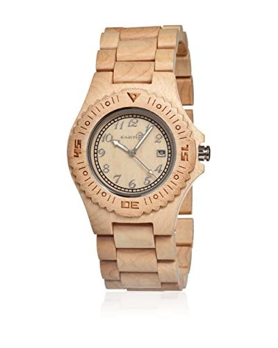 Earth Orologio con Movimento al Quarzo Giapponese Phloem Beige 42  mm