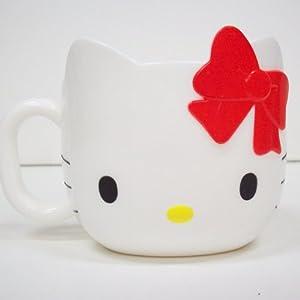 Taza blanca con la cara de Hello Kitty - HELLO KITTY FACE MUG -CORN. Precio: $4.67