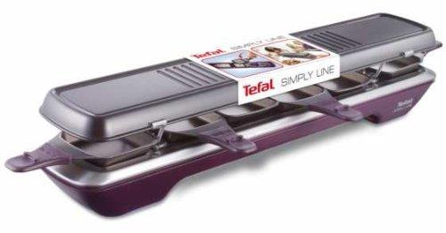 tefal re520012 simply line raclette 6 coupelles grills et planchas. Black Bedroom Furniture Sets. Home Design Ideas