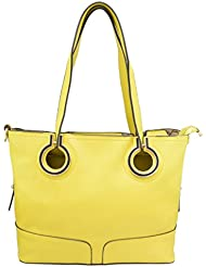 Omkar Shopy New Fashion Women's Ladies PU Hand Bag / Shoulder Bag(Yellow) OS125003417