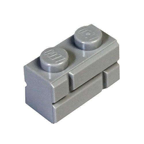lego-parts-and-pieces-light-gray-medium-stone-grey-1x2-masonry-profile-brick-x50