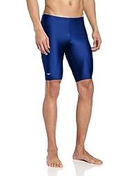 Speedo Men\'s PowerFLEX Eco Solid Jammer Swimsuit