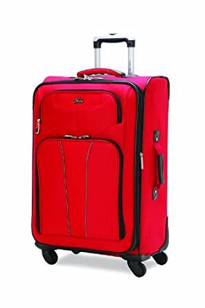 Skyway Luggage Sigma 4.0 20-Inch 4-Wheel Expandable Carryon, Scarlet Flame, One Size