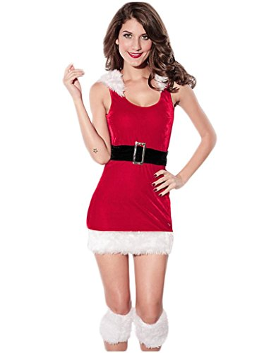 NuoReel Women's North Pole Babe Christmas Costume