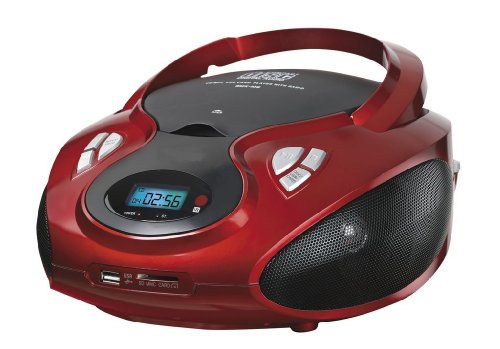 Tragbares Stereo CD-Radio mit CD MP3 Player USB SD-Card Wiedergabe AUX IN Kinder Musikanlage Stereoanlage Boombox