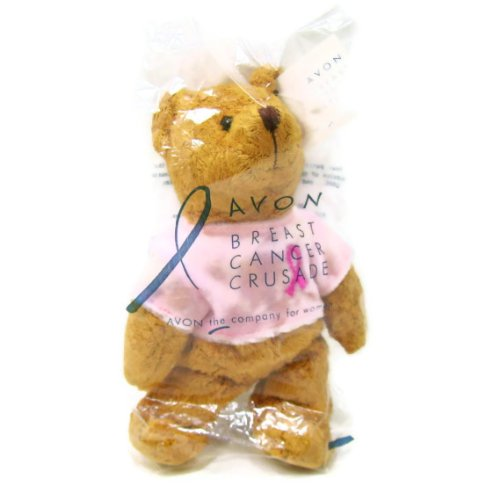 Mini Bean Bag Pink Ribbon Teddy Bear - 1
