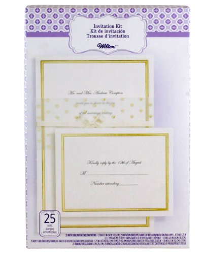 wilton print templates - wilton 25 count invitation kit gold heart wrap arts