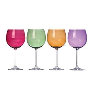 Lenox tuscany harvest balloon glass set wine glasses mixed drinkware sets - Lenox colored wine glasses ...