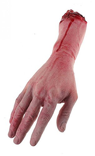 Gooday Bloody Horror Scary Halloween Prop Fake Severed Lifesize Arm Hand Haunted House