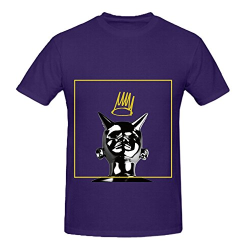 Sinner J Cole Born Mens Crew Neck Graphic Tee Purple