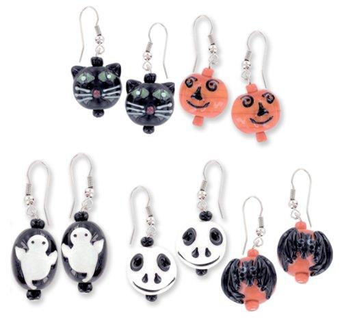 Halloween Blown Glass Earrings