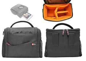 Housse étui DURAGADGET (noir/orange) pour appareil photo Polaroid Z340, P 300 et Z2300 avec imprimante intégrée - Garantie 5 ans
