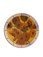 Artopweb Reloj De Pared Van Gogh Sunflowers