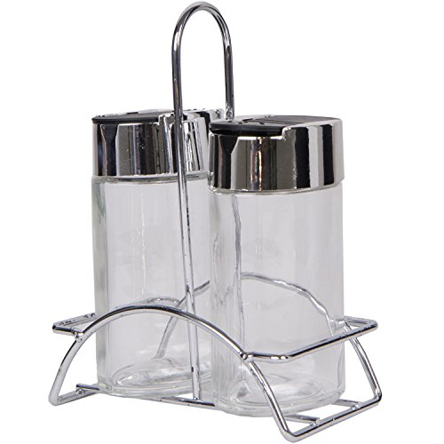 Premium Glass Spice Bottles 2Pc With Metal Stand front-39548