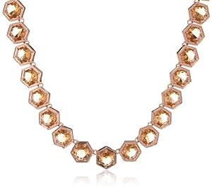 "Giles & Brother Rose Gold-Tone Georgian Collar Necklace, 17"""